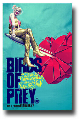 "Harley Quinn Poster Birds Of Prey Movie 11""x17"" Car Bullet SameDay Ship from USA"