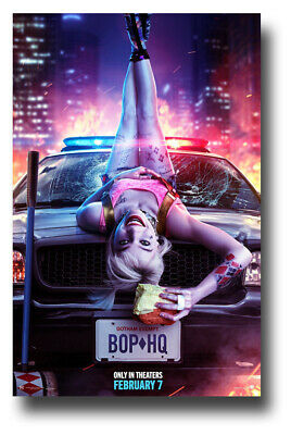 "Harley Quinn Poster Birds Of Prey Movie 11""x17"" Car Hood SameDay Ship from USA"