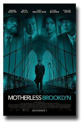 "Motherless Brooklyn Movie Poster - 11""x17"" Edward Norton SameDay Ship from USA"