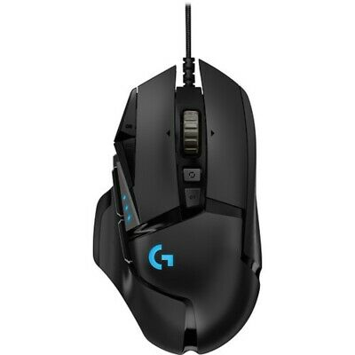 Logitech G502 Hero Proteus Core Tunable Optical Gaming Mouse - Black