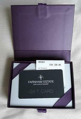 Farnham Estate Luxury Golf & Spa Resort Gift Voucher 300 Euros Expires June 2020