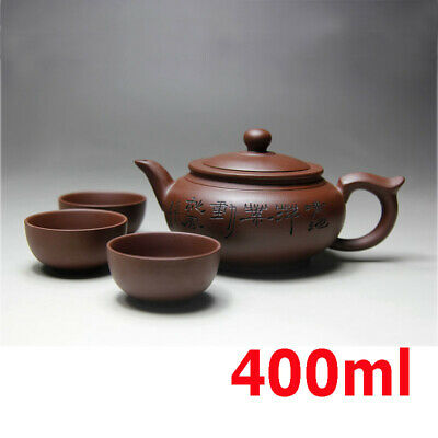 Kung Fu Tea Set Yixing Teapot Handmade Tea Pot Cup Set 400ml Zisha Ceramic Gift