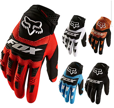FOX Full Finger Glove Racing Motorcycle Gloves Cycling Bicycle BMX MTB  Riding