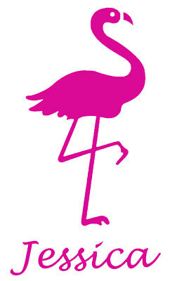 Personalised Name/Flamingo Wall Art, Girls/Boys Bedroom,Custom Vinyl Sticker