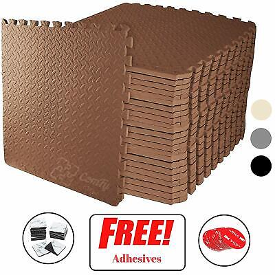 Interlocking BROWN Heavy Duty EVA Foam Gym Flooring Floor Mat Tiles 60X60X1 cm