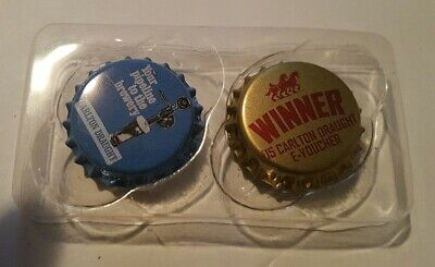 Carlton Draught $15 E-Voucher magnet cap and 1other cap