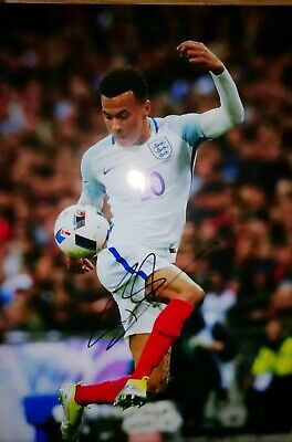 12x8 Inch PHOTO HAND SIGNED By DELE ALLI ENGLAND & TOTTENHAM HOTSPUR