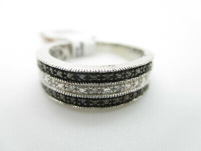 925 Sterling Silber Ring Diamant Edelsteine Modernist Vintage silver diamond rin