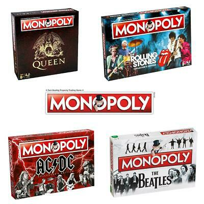 Monopoly Board Game Editions - AC/DC > The Beatles > Queen > The Rolling Stones