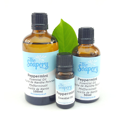 Peppermint Essential Oil 10ml - 100ml Pure Natural Aromatherapy Undiluted