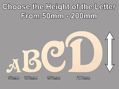 Wooden Letters for a Toy Box or Wall Choose from 50-200mm MDF Crown Letter