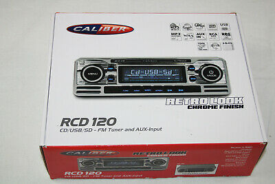 Caliber rcd110 retro radio de coche Classic Oldtimer USB SD CD mp3 aux en cromo