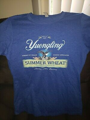 Yuengs /& Wings T Shirt L Yuengling Brewery Beer Bar Lager Womens 6036