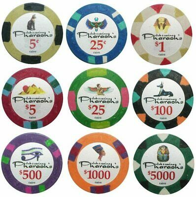 500 Pharaoh's Casino Poker Chips