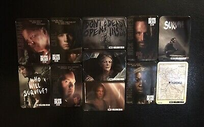 THE WALKING DEAD 11 FRIDGE MAGNETS Mint Condition