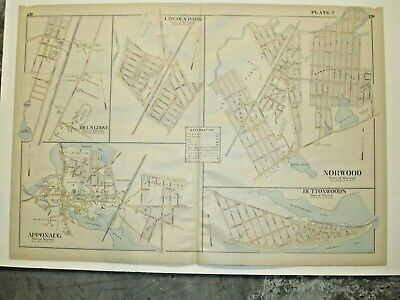 1895, Warwick Villages, Ri., Map Removed From Everts & Richards Atlas Of 1895
