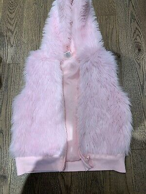 Gymboree SWEETER THAN CHOCOLATE Pink Faux Fur Vest  Nwot Size 10 Holidays