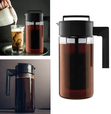 Cold Brew Iced Coffee Tee Maker Reusable Mesh Filter Seal Silicone Handle Kettle