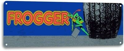 Frogger Classic Atari Arcade Marquee Game Room Cave Wall Decor Large Metal Sign
