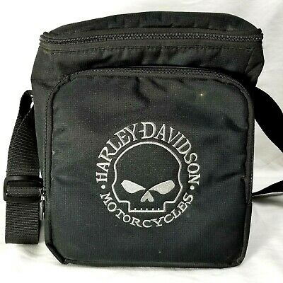 Pre-owned Harley-Davidson Insulated Cooler Tote Picnic Bag With Shoulder Strap