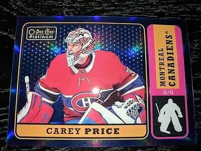 2018-19 O-Pee-Chee OPC Platinum Retro Blue Rainbow #R10 Carey PRICE #d/149