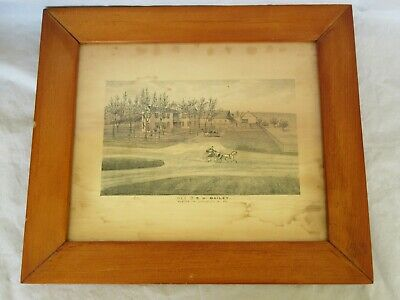 Antique 18th / 19th Century Lycoming County, PA Residence of S.H. Bailey Print