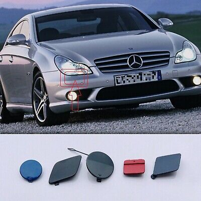 GENUINE Headlight Washer Primed Cap Cover Pair Fits Mercedes CLS W219 05-11