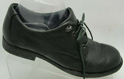 Born Oxfords Womens 8/39 Black Leather Lace Up Comfort Flat Casual Dress Loafer