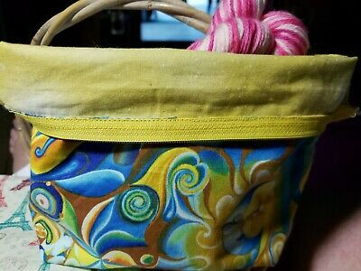 Zippered Project bag knitting / crochet- Celestial