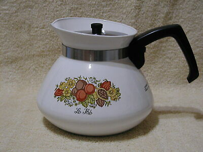 Vintage Corning Ware Teapot  Le The' Spice of Life 6 Cup  P-104