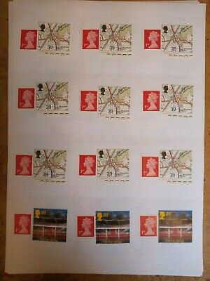 50 1st Class Large Letter £1.15 Genuine New Mint Stamps On Self Adhesive Labels