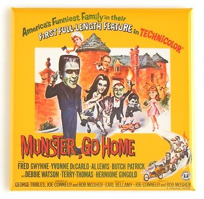 Munster Go Home FRIDGE MAGNET (3 x 3 inches) movie poster the munsters