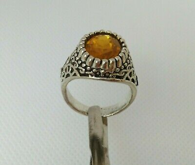 Rare Extremely Ancient Roman Ring Metal Silver Color Beautiful Authentic