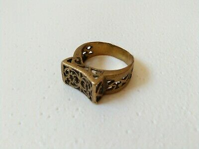 Rare Extremely Ancient Ring Bronze Legionary Roman Old Ring Authentic Artifact