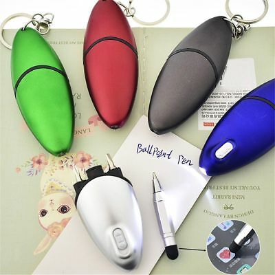 Creative Multifunction Keychain Screwdriver Ballpoint Pen With Led Light
