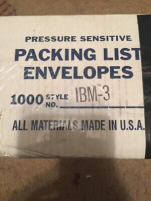 """4""""x 8.5"""" Packing List Envelopes Packing Supplies Back Load 1000 Pcs"""