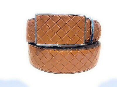 Womens Designer Belts New Tan  Check Leather Automatic Belt For Women Ladies Uk