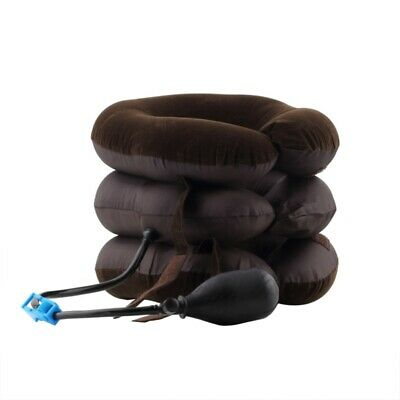 2X(Inflatable Air Compressor Neck Cervical Traction Collar Therapy Massage Q8G3)