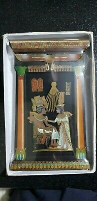 Egyptian hand made King Tut Ankh Amoun and his wife