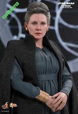 Ready Hot Toys Sw Ep Viii The Last Jedi Leia Organa Carrie Fisher Mms459 1/6 New