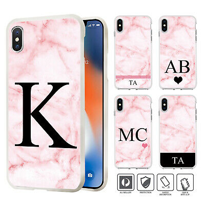 Personalised Marble Case Cover For iPhone 11 Pro XS MAX XR X 8 7 SE 6 6S Plus 07