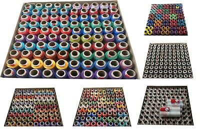 Thread Set of Assorted 100 Tubes Spools Spun Polyester 2 ply Sewing Machine Hand