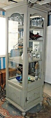 Boutique retail display Cabinet Shabby Chic  Wood / Glass Lockable/Paris Gray
