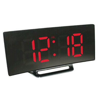 LED Mirror Digital Alarm Clock Electronic Watch  Night Display Table Clock