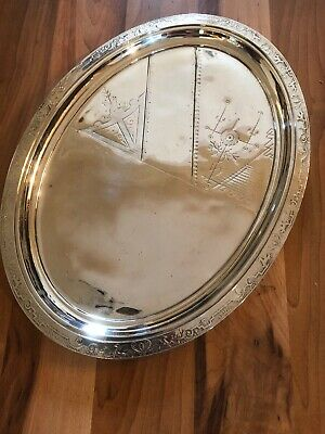 Stunning Antique Aesthetic Movement Reed & Barton Silver Plated Tray