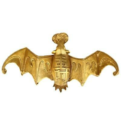 Collectibles Chinese Seiko Carved Exquisite brass copper Auspicious bat Statue