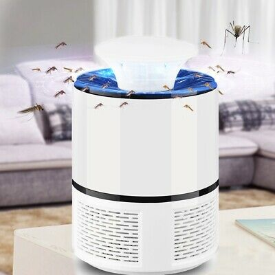 2018 New Smart LED UV Electric Mosquito Killer Lamp USB Charge Noiseless Wh G8M5