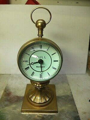 "4 1/2"" Glass Ball Table or desk Clock Westminster chime."