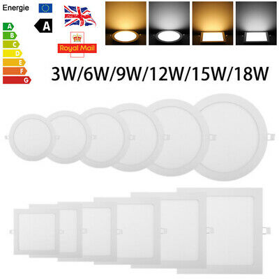 Dimmable Downlight Ceiling Led Recessed Panel Flat Light Fitting Lamp Ultra Slim