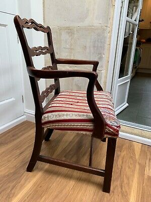 Antique Single Hepplewhite Carver Chair